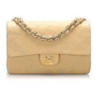 Classic Medium Lambskin Double Flap Bag Leather