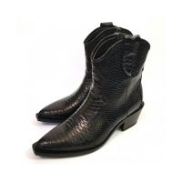 Croco ankle boots