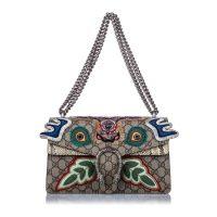 Embroidered Dionysus Shoulder Bag
