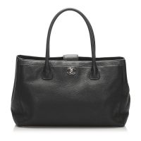 Executive Cerf Caviar Leather Tote Bag