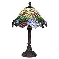 Fargeglad bordlampen Lotta i tiffanystil