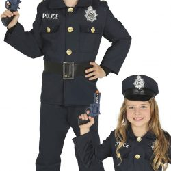 Fiestas Guirca Kostyme Politi 7-9 År