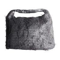 Fringe Netted Hobo Bag