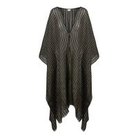 Fringed Striped Poncho