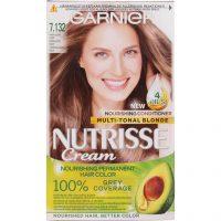 Garnier Nutrisse Cream 7.132 Nude Dark Blonde, Garnier Hårfarge
