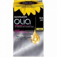 Garnier Olia Permanent Hair Colour 9.11 Silver Smoke, Garnier Hårfarge