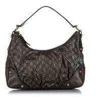Guccissima Jockey Leather Shoulder Bag