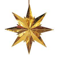 Gullfarget metallstjerne Mini