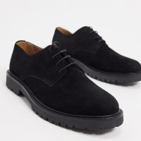 H by Hudson atol chunky lace up shoes in black suede