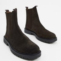 H by Hudson chelsea boots in brown suede