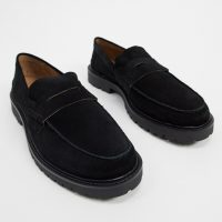 H by Hudson radclif chunky loafers black suede
