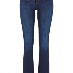 Happy Holly Bootcut jeans med høy midje Francis Mørk denim