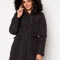 Hollies Livigno Long Coat Black/Black 32