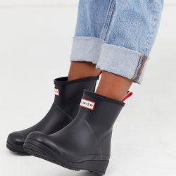 Hunter Original Play Short Wellington Boots-Black