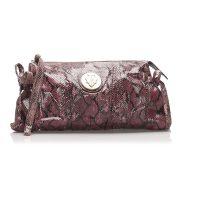 Hysteria Python Leather Clutch Bag
