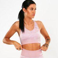 ICIW Seamless Sport Bra, Camo Dusty Pink