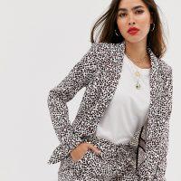 Ichi heart print suit blazer-Multi