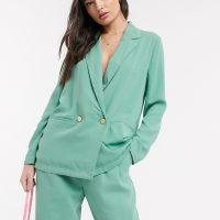 Ichi pastel suit blazer-Green