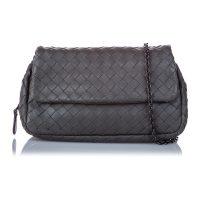 Intrecciato Leather Chain Crossbody Bag