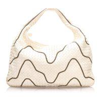 Intrecciato Leather Chain Hobo Bag