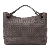 Intrecciato Leather Handbag Leather