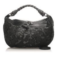 Intrecciato Shoulder Bag Leather Calf