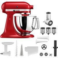 KitchenAid Artisan Kjøkkenmaskin (rød) + tilbehørssett