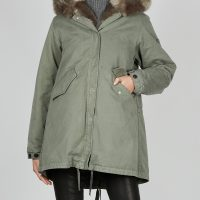 Lempelius Jacket Cotton Parka Faux Fur XS