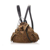 Leopard Print Nylon Backpack Fabric