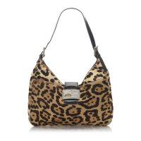 Leopard Print Pony Hair Shoulder Bag
