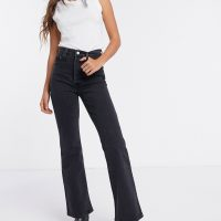 Levi's Ribcage bootcut jeans in washed black