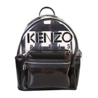 Logo print PVC backpack