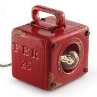 Lorenzo vintage bordlampe i rød