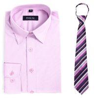 Lyselilla Pascal skjorte med lilla slips