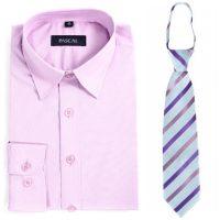 Lyselilla Pascal skjorte med lilla/rosa slips