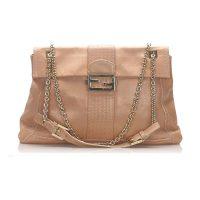 Maxi Baguette Leather Flap Bag