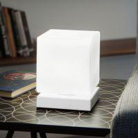 Med berøringsdimmer – LED-bordlampe Brenta hvit