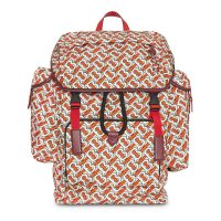 Medium monogram print backpack