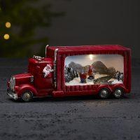 Merryville - LED-dekorlampe Julenisselastebil