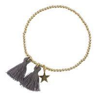 Metal Bead Bracelet With Tassel