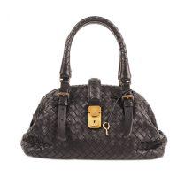 Mini Intrecciato Leather Handbag
