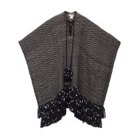 Mona poncho with tie fastening