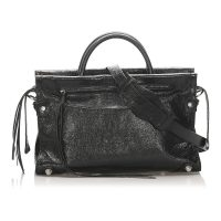 Mute City Giant Leather Satchel