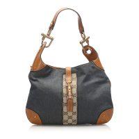 Nailhead New Jackie Denim Shoulder Bag