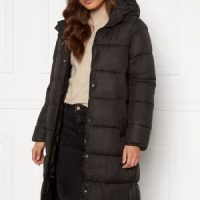 ONLY Newcammie Long Quilted Coat OTW Black L