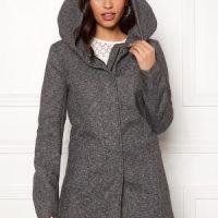 ONLY Sedona Light Coat Dark Grey Melange S