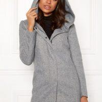 ONLY Sedona Light Coat Light Grey Melange M