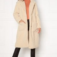 ONLY Star Long Teddy Coat OTW Pumice Stone XS