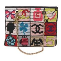Patchwork Icon Tweed Shoulder Bag