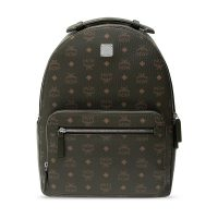 Patterned backpack with logo